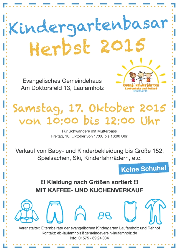 Flyer Herbstbasar 20151
